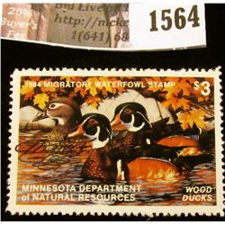 1564 . 1984 Minnesota Migratory Waterfowl $3 Stamp, artist signed.