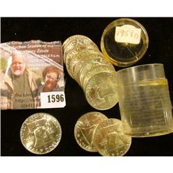 1596 . (12) 1959 D Gem BU Silver Franklin Half Dollars.