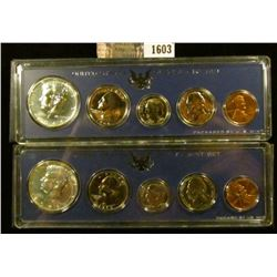 1603 . (2) 1966 Special Mint Sets With Box.  The Half Dollars Are 4