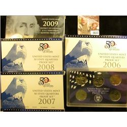 1611 . 2006 S, 2007 S, And 2008 S Proof State Quarters Set.  Lot Al