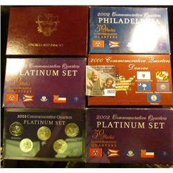 1612 . Two 2002 Platinum State Quarter Set, 2002 Philadelphia Quart