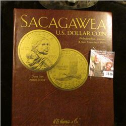 1616 . HE Harris And Company Coin Album With Sacagawea Dollars Star