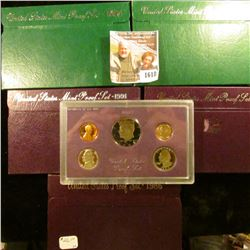 1618 . Proof Coin Set Lot Includes 1986 S, 1990 S, 1991 S, 1994 S,
