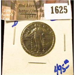 1625 . Key Date 1919-D Standing Liberty Quarter. Lot of shine.