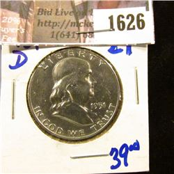 1626 . Beautiful 1951-D Franklin Half Dollar