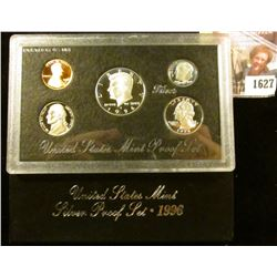1627 . 1996 S Silver Proof Set.  The Half Dollar, Quarter, and Dime
