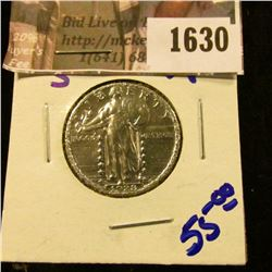 1630 . 1928-S Standing Liberty Quarter, nice and shiny