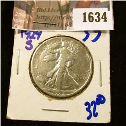 1634 . 1929-S Walking Liberty Half Dollar