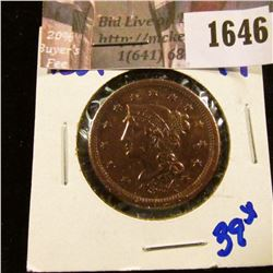 1646 . 1854 Coronet Head Large Cent