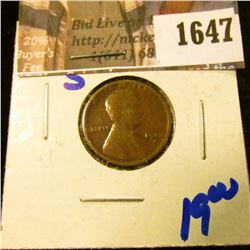 1647 . 1912-S Semi Key Date Wheat Cent