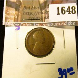 1648 . 1911-S Semi Key Date Wheat Cent