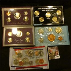 1655 . 1998 Mint Set, 1979 Denver Mint Souvenir Set, 1987 Proof Set