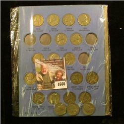 1666 . Jefferson Nickel Set From 1938 To 1961.  The Set Includes al