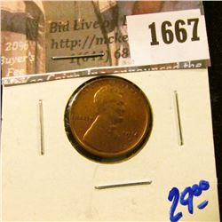 1667 . 1914-S Semi Key Date Wheat Cent