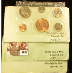1686 . 1980, 1981, and 1984 Souvenir Coin Sets From The Philadelphi