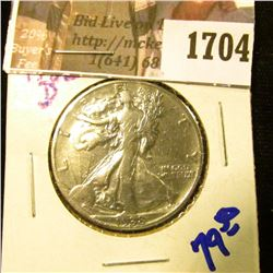 1704 . Key Date 1938-D Walking Liberty Half Dollar