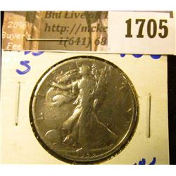 1705 . Better Date 1933-S Walking Liberty Half Dollar