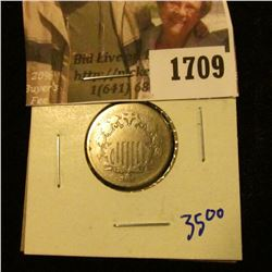 1709 . 1868 Shield Nickel