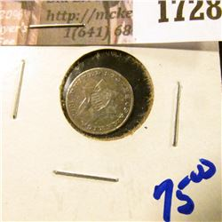 1728 . 1853 Three Cent Silver Coin Commonly Referred To As The Trim