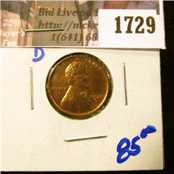 1729 . Bright Red 1920-D Wheat Cent