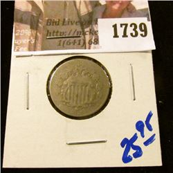 1739 . 1874 Shield Nickel