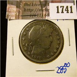 1741 . 1915 P Key Date Barber Half Dollar.  Only 138,000 Minted Tha
