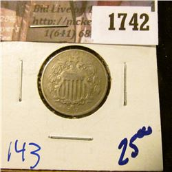 1742 . 1867 Shield Nickel