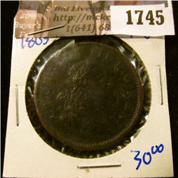1745 . 1805 Irish Hibernia Penny