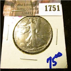 1751 . Key Date 1938-D Walking Liberty Half Dollar