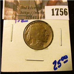 1756 . BEAUTIFUL HIGH GRADE 1913 TYPE 1 BUFFALO NICKEL WITH ROTATED