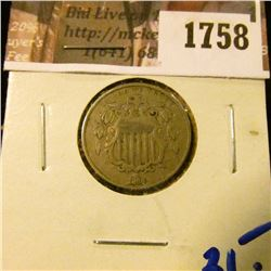 1758 . 1868 Shield Nickel