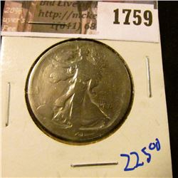 1759 . Key Date 1921 P Walking Liberty Half Dollar