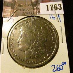 1763 . 1894-O Morgan Silver Dollar