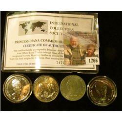 1766 . (4) Princes Diana Coins.