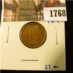 "1768 . 1863 Civil War Token.  On The Front It Says ""The Flag Of Our"
