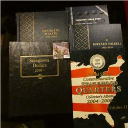 1772 . COIN BOOK SET INCLUDES WHITMAN BUFFALO NICKEL BOOK WITH THE