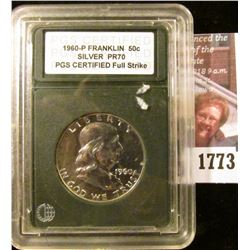 1773 . 1960 P Franklin Half Dollar PGS Graded Proof 70 Full Strike