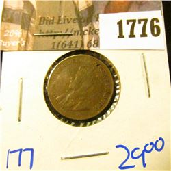 1776 . Key Date Canadian Small Cent Dated 1922
