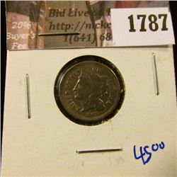 1787 . 1867 Three Cent Nickel