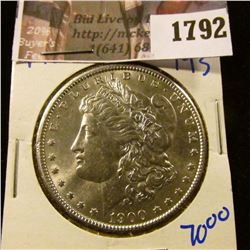 1792 . 1900 Morgan Silver Dollar