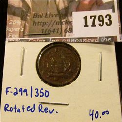 1793 . (1863) era Army & Navy Civil War Token With Rotetd Reverse