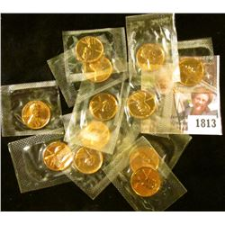 1813 . (12) Proof Wheat Pennies From Flat Pack Proof Sets
