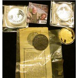 1816 . United States Marine Corp Medal, Gold Enhanced Replica Buffa