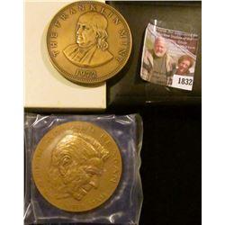 """1832 . RONALD REAGAN INAUGURAL MEDAL Bronze Medal, 3"""" diameter in o"""