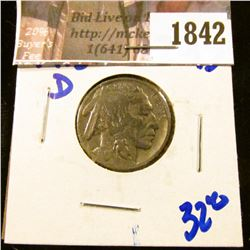 1842 . 1915-D Semi Key Date Buffalo Nickel