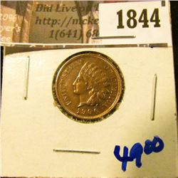 1844 . 1906 Indian Head Cent With Full Diamonds and Full Beads Visi