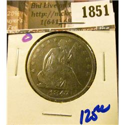 1851 . 1847-O Seated Half Dollar From The New Orleans Mint