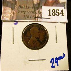 1854 . 1911-S Semi Key Date Wheat Cent