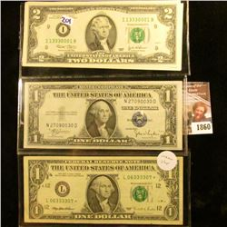 1860 . Series Of 1935-C One Dollar Blue Seal Silver Certificate, Th