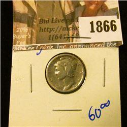 1866 . 1926-S Mercury Dime